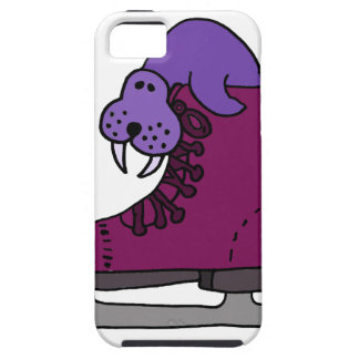 Purple Walrus in Ice Skate iPhone 5 Covers