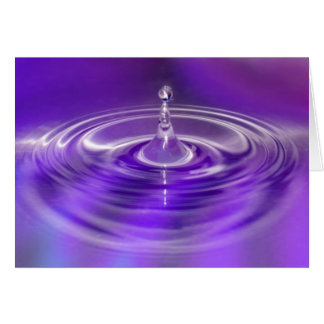 Purple Water Drop Card