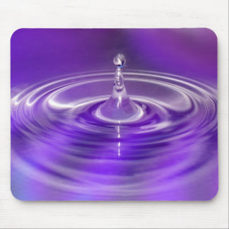 Purple Water Drop Mouse Pad