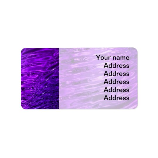 Purple Water Label
