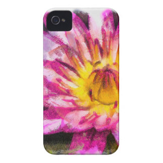 Purple Water Lily Watercolor Ink Case-Mate iPhone 4 Case
