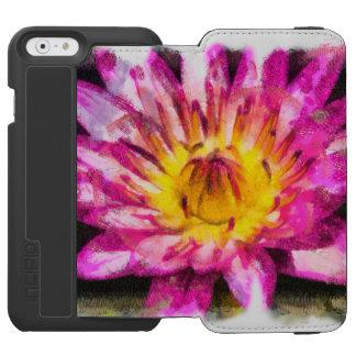 Purple Water Lily Watercolor Ink Incipio Watson™ iPhone 6 Wallet Case