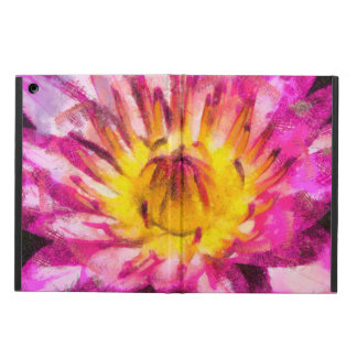 Purple Water Lily Watercolor Ink iPad Air Case
