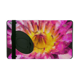 Purple Water Lily Watercolor Ink iPad Case