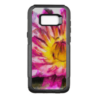 Purple Water Lily Watercolor Ink OtterBox Commuter Samsung Galaxy S8+ Case