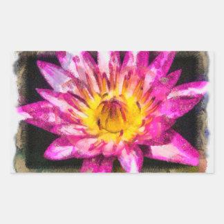Purple Water Lily Watercolor Ink Sticker