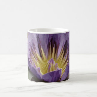 Purple Water Lily with Dew Coffee Mug