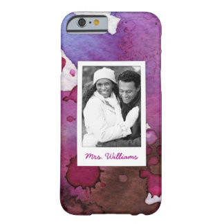 Purple Watercolor | Add Photo Barely There iPhone 6 Case