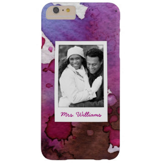 Purple Watercolor | Add Photo Barely There iPhone 6 Plus Case