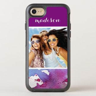 Purple Watercolor | Add Photo OtterBox Symmetry iPhone 8/7 Case