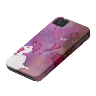 Purple Watercolor Background Case-Mate iPhone 4 Case