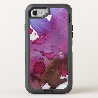 Purple Watercolor Background OtterBox Defender iPhone 7 Case