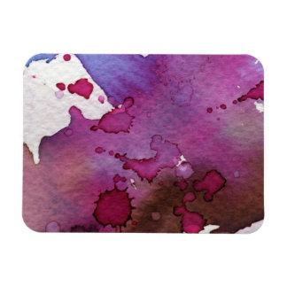 Purple Watercolor Background Rectangular Photo Magnet