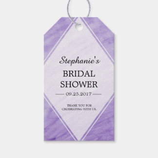 Purple Watercolor Bridal Shower Thank You Gift Tags