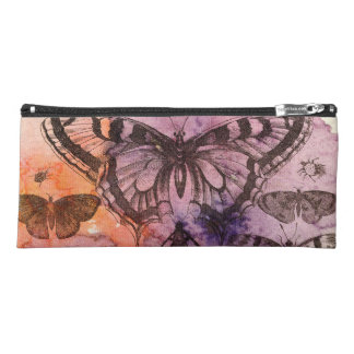 Purple Watercolor Butterflies Pencil Case