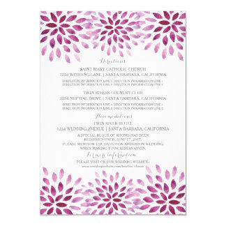 Purple Watercolor Chrysanthemum Information Card
