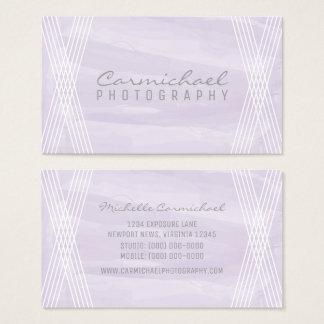 Purple Watercolor Deco Business Card