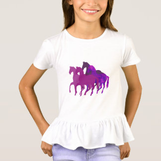 Purple Watercolor Fantasy Horse Riding  Modern T-Shirt