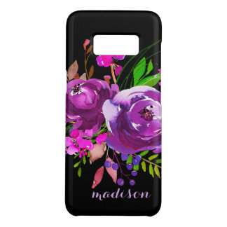 Purple Watercolor Floral Bouquet Case-Mate Samsung Galaxy S8 Case