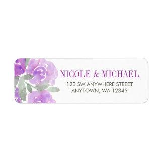 Purple Watercolor Floral Garden