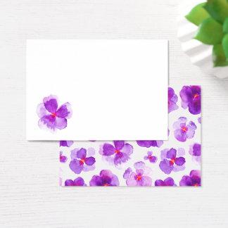 Purple watercolor floral guest place cards