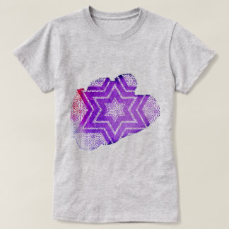 Purple Watercolor & Lace Star of David T-Shirt