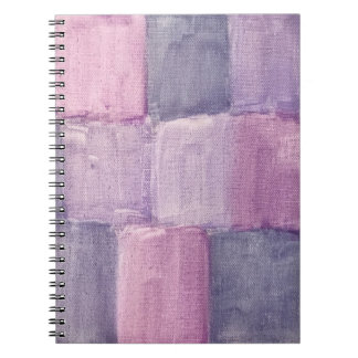 Purple watercolor notebook