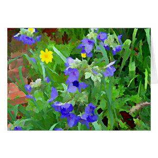 Purple Watercolor of Flower Garden Card