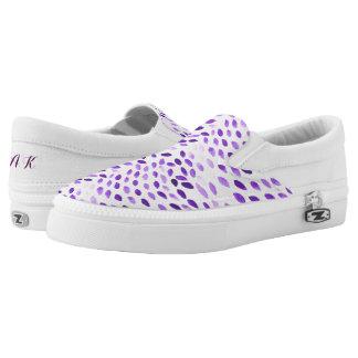 purple watercolor pattern Slip-On sneakers
