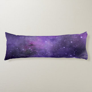 Purple Watercolor Space Pattern Body Pillow