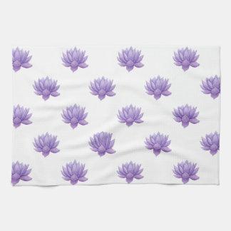 Purple Watercolor Succulent Kitchen Towel