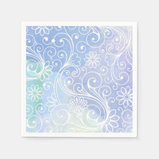 Purple watercolor swirl, modern fun party decor paper napkins