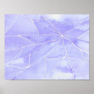Purple Watercolour Break Poster