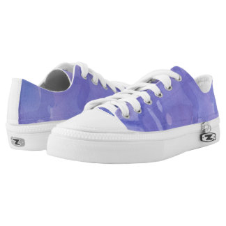 Purple Watercolour Shoes