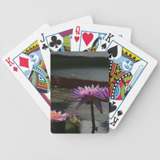 Purple Waterlilies Lotus playing cards