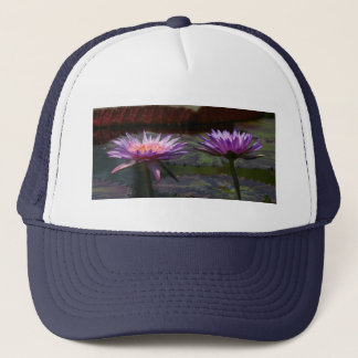 Purple Waterlilies Lotus Trucker Hat