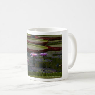 Purple Waterlily Lotus Mug