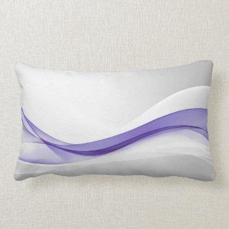 Purple Wave Abstract Lumbar Pillow
