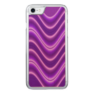 Purple Wave Pattern Carved iPhone 7 Case