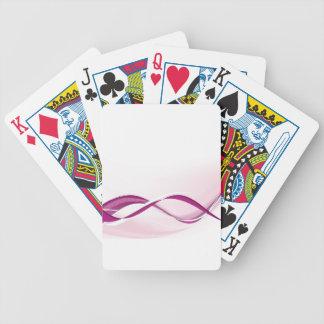 Purple Wave Poker Deck