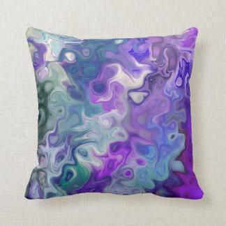 Purple Waves 33 Throw Pillow
