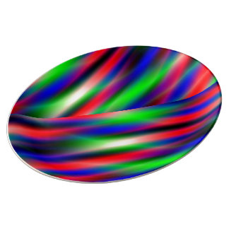 Purple Waves Abstract Plate