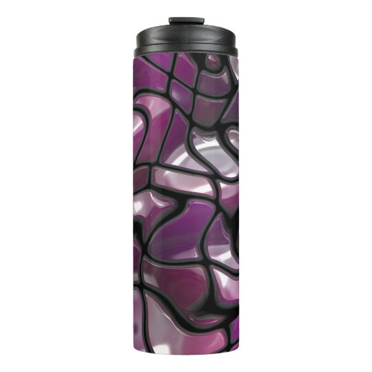 Purple Waves Abstract Thermal Tumbler