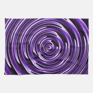 Purple Waves Hand Towels
