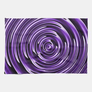 Purple Waves Kitchen Towel