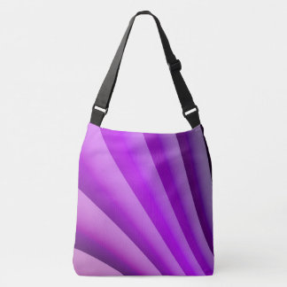 Purple Waves of Pain Art Crossbody Bag
