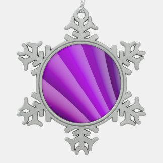 Purple Waves of Pain Art Pewter Snowflake Ornament