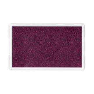 Purple waves pattern. Sea texture. Acrylic Tray