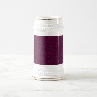 Purple waves pattern. Sea texture. Beer Stein