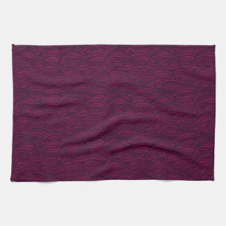 Purple waves pattern. Sea texture. Kitchen Towel
